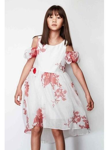 Lia Lea Lia Lea Kız Çocuk Kırmızı Elbise 19SSLL01638 Kırmızı